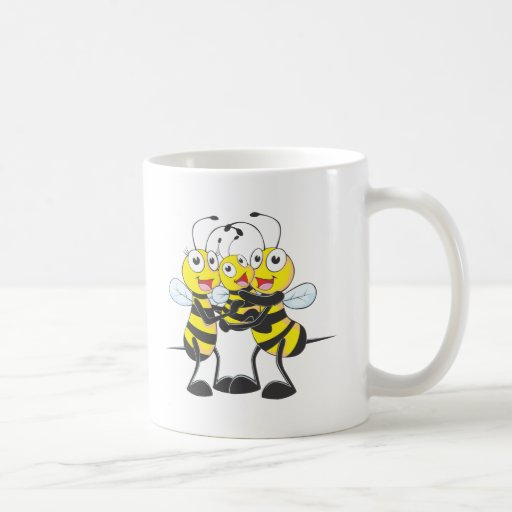 Custom Shirts : Happy Dad Mom Baby Bee Shirts Classic White Coffee Mug