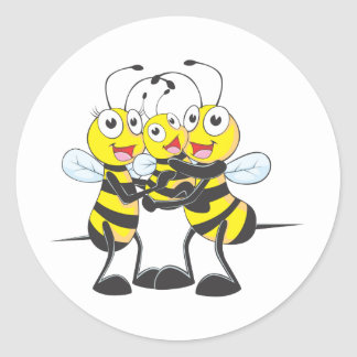 Custom Shirts Happy Dad Mom Baby Bee Shirts Stickers