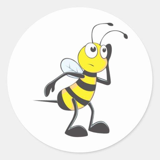 Custom Shirts : Listening Bee Shirts Round Stickers