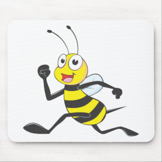 Custom Shirts : Running Jumping Bee Shirts Mouse Pad