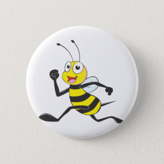 Custom Shirts : Running Jumping Bee Shirts Pinback Button