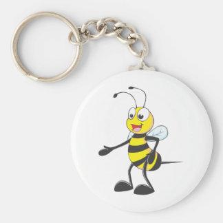 Custom Shirts : Shake Hands Bee Shirts Basic Round Button Keychain
