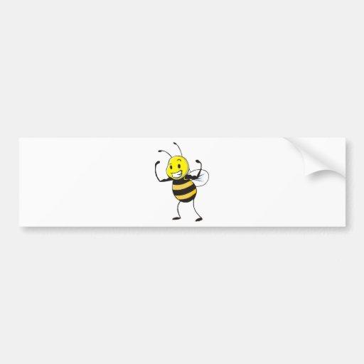 Custom Shirts : Strong Muscular Bee Shirts Car Bumper Sticker