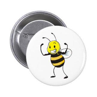 Custom Shirts : Strong Muscular Bee Shirts Pinback Buttons