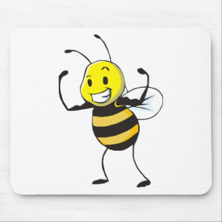 Custom Shirts : Strong Muscular Bee Shirts Mouse Pad