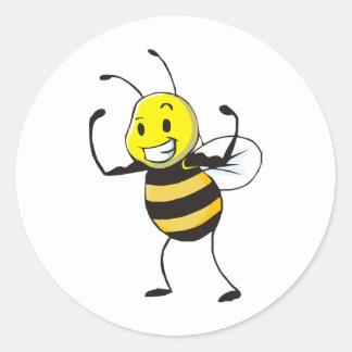 Custom Shirts : Strong Muscular Bee Shirts Sticker
