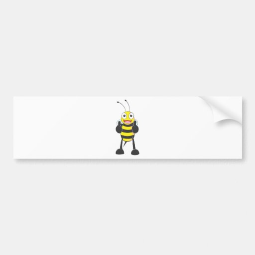 Custom Shirts : Thumbs up Bee Shirts Bumper Stickers