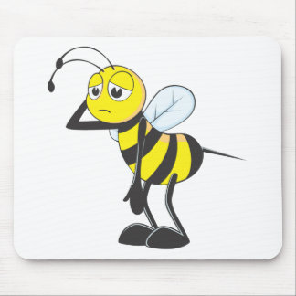 Custom Shirts : Tired Sleepy Bee Shirts Mouse Pad