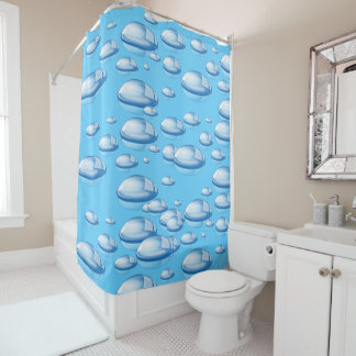 Custom shower curtain-Bubbles/choose your color Shower Curtain