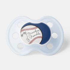 Custom Signature Baseball Pro Blue Pacifier at Zazzle