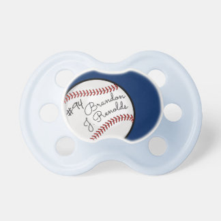 Custom Signature Baseball Pro Blue Pacifier