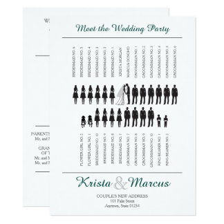 Custom Silhouettes Ceremony Program