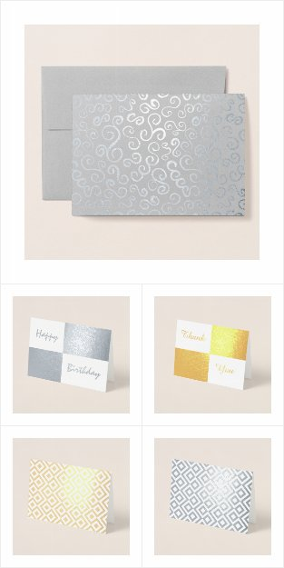 Custom Silver and Gold Foil Cards