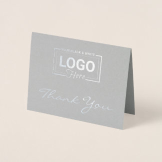 Custom Silver Foil Thank You Cards