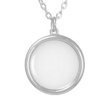 Beach Themed Custom Silver Plated Necklace