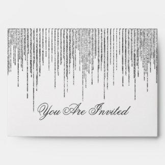 Custom Silver Stream Glitter Confetti Look Envelope