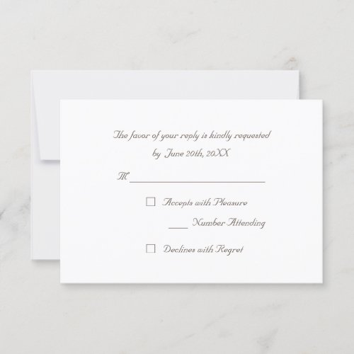 Custom Simple Elegant Party RSVP Invitation Card