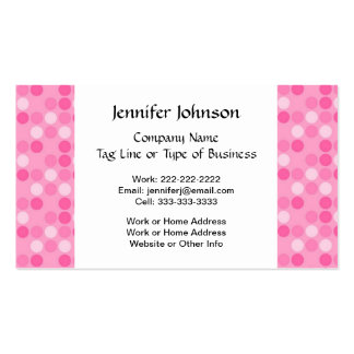Custom Simple Pink and White Polka Dot Business Card