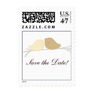 Custom simple save the date love bird design postage