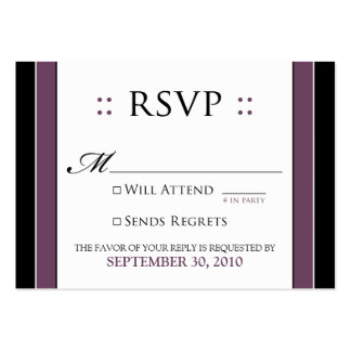 "::custom:: Simply Elegant 3.5x2.5"" Eggplant RSVP Large Business Cards (Pack Of 100)"