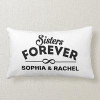 Custom Sisters Forever Lumbar Pillow