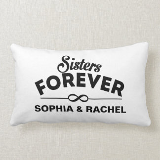 Custom Sisters Forever Lumbar Pillow