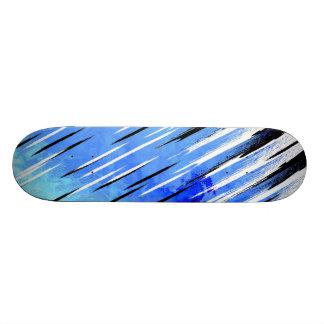 Custom Skateboarding Deck Blue Black White