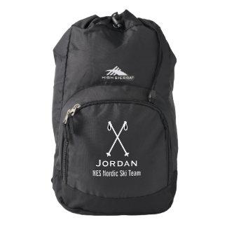 Custom Skiing Nordic Alpine Ski Pole Ski Team Backpack