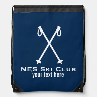 Custom Skiing Nordic Alpine Ski Pole Ski Team Drawstring Backpack