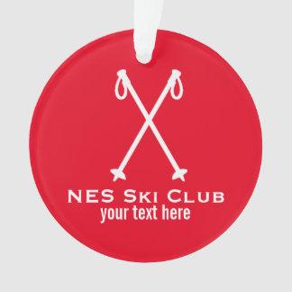 Custom Skiing Nordic Alpine Ski Pole Ski Team Ornament