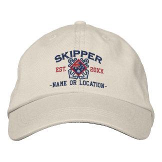 Custom Skipper Australian Flag Crossed Anchors Baseball Cap