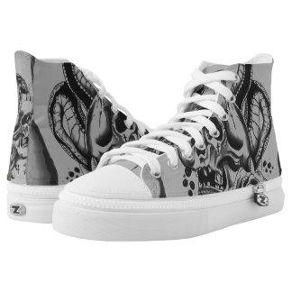 custom skull lace ups High-Top sneakers
