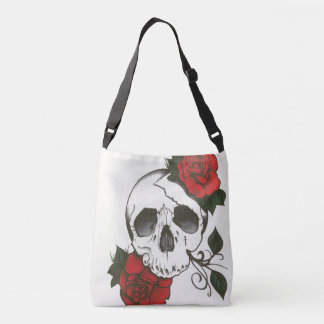 Custom skull rose tote