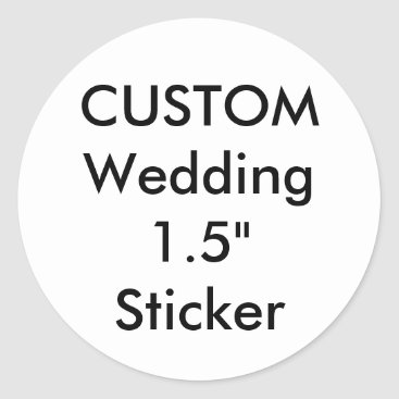 """APersonalizedWedding Custom Small 1.5"""" Round Sticker"""
