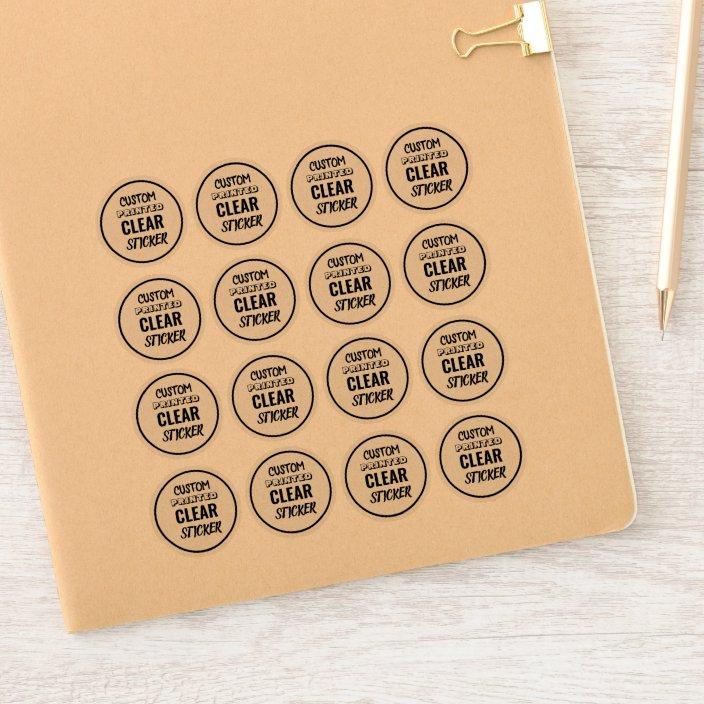 Custom Small Clear Sticker Labels
