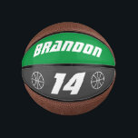 """Custom small mini basketball kid's Birthday gift<br><div class=""""desc"""">Personalized small mini basketball kid's Birthday gift idea. Cool sports present for sporty children. Novelty design with custom name, logo, age or jersey number and background colors. Make your own small ball for good son, grandson, daughter, granddaughter, nephew, cousin, friend, little brother or sister, grandchildren, teen, teenager, boy or girl,...</div>"""