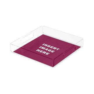 Custom Small Square Acrylic Serving Tray Template Square Serving Trays