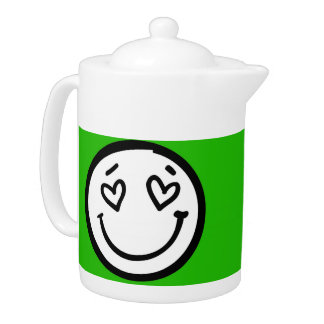 Custom Smiley Face on Green Background