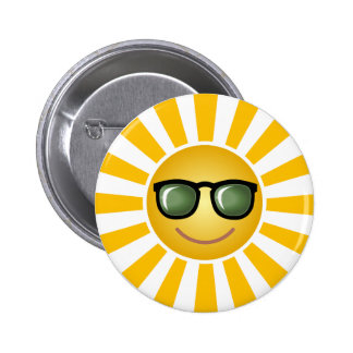 Custom Smiling Sun Pinback Button