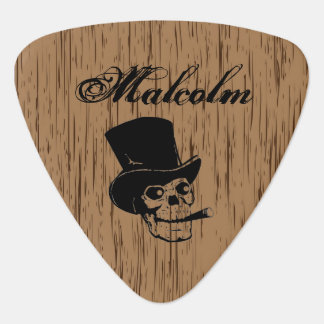 Custom Smoking Skull Guitar Pick