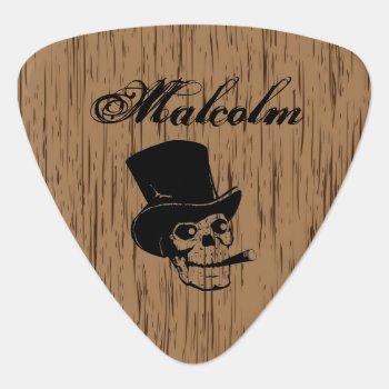 Custom Smoking Skull Guitar Pick by DizzyDebbie at Zazzle