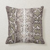 Custom Snake Skin Print #1 Throw Pillow