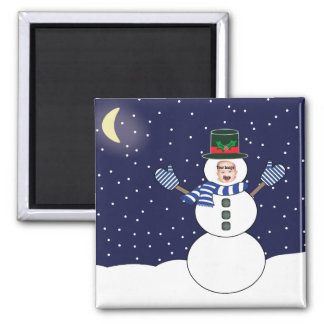 Custom Snowman Picture Magnet