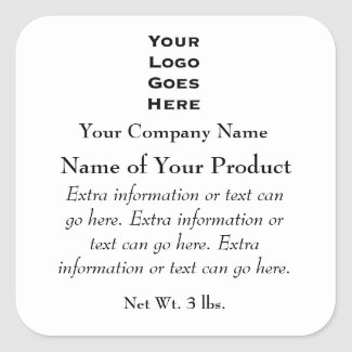 Custom Soap or Cosmetics Label with Logo