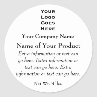 Custom Soap or Cosmetics Label with Logo Classic Round Sticker