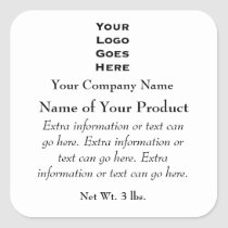 Custom Soap or Cosmetics Label with Logo Stickers
