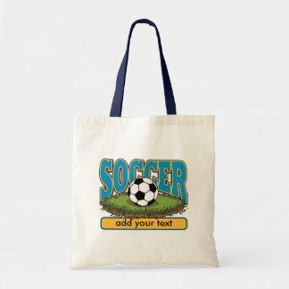 Custom Soccer Add Text Budget Tote Bag
