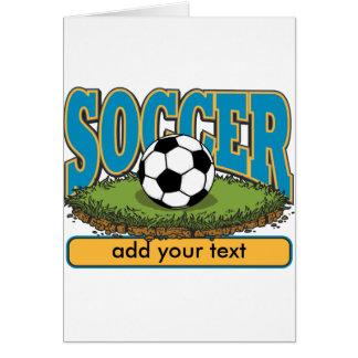 Custom Soccer Add Text Greeting Card