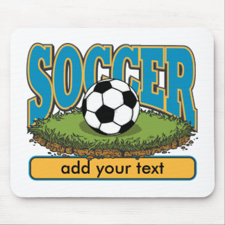 Custom Soccer Add Text Mouse Pad
