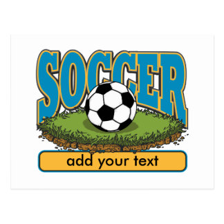 Custom Soccer Add Text Postcard